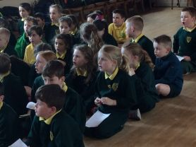 P.4 pupils prepare for First Holy Communion through song!